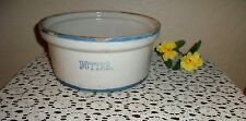 ANTIQUE VINTAGE RARE COUNTRY BUTTER POTTERY CROCK STONEWARE