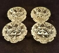 "Collectible Vintage Cut glass Fancy 1.5"" Dip Dish Set of Four (4) Kitchenware"