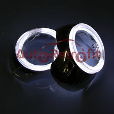 Pair of White Halo S-Max Style Shrouds/Bezels/Covers for 2.5''&3.0'' Projectors