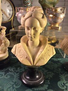 Vintage 1960s Bust Sculpture alabaster Marble Italy A. GIANNELLI Arnoldo Medici
