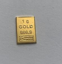 More details for 1g 999 gold bar