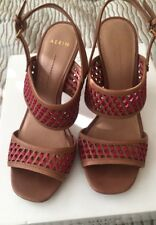 2f13254d25db Womens AERIN TOINY Light brown Pink Tan leather slingback sandals Size 7.5