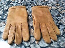 """gants vintage cuir couleur """" beurre frais"""" .t 73/4 (G/C/F)"""