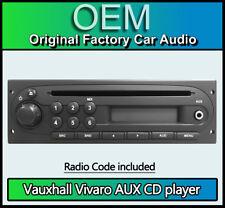 OPEL Vivaro Vauxhall, reproductor de CD MP3 radio estéreo de coche, código & retiro llaves