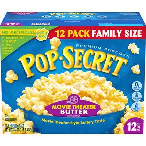Pop Secret Popcorn, Movie Theater Butter, Microwave Popcorn Bags, 38.4 oz, 12 Ct