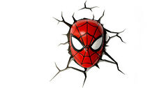 Nuevo Marvel 3D Light FX 'Lil' Spiderman Máscara 3D Deco Luz De Pared/Luz De Noche