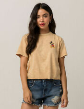 Tilly's Mighty Fine Mickey Mouse Tee Shirt Crop Top (Sz Small) Disney yellow