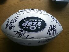 NY Jets team signed ball PROOF Tebow, Sanchez, Holmes, BRICK, Hill