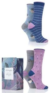 Thought Lavender Garden Bamboo Organic Cotton 4 Pack Socks Gift Box - NEW