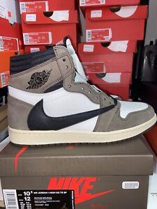 Jordan 1 CD4487-100 Travis Scott Size 10.5- Black/Mocha OG BOX DS