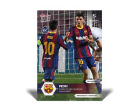 Pedri - 2020 UCL Topps Now UEFA Champions League RC Card #5 FC BARCELONA Debut