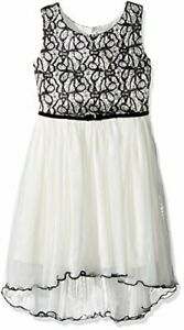NWT Bonnie Jean Bonded Lace High Low Hem Party Dress 16 Year round Easter SALE$