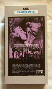 Wuthering Heights VHS 1970 Robert Fuest Timothy Dalton CEL StarScreen Cardboard
