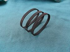 """55-6719-6   BRAND NEW 3 DRIVE BELTS FOR MASTERCRAFT 9"""" BAND SAW MODEL 55-6719-6"""