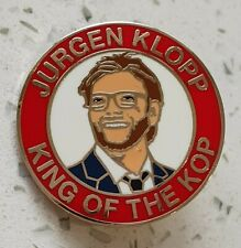 More details for liverpool jurgen klopp - king of the kop -  red and white pin badge