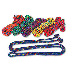 Champion Sports Braided Nylon Jump Ropes 8ft 6 Assorted-Color Jump Ropes/Set