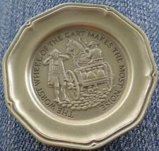 The Worst Wheel... - Franklin MInt Miniature Collectible Plate - VGC BRONZE