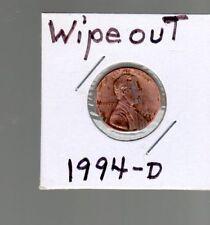 Error coin  1994 D 1C penny