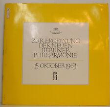 """PER APERTURA DELLA IT BERLINO ORCHESTRA FILARMONICA 15. OTTOBRE 1963 12"""" LP g852"""