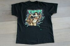 The Cramps Bikini Girls With Machine Guns Black T-shirt Size Large Vintage 90s