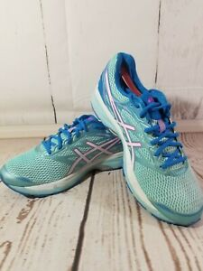 Asics GEL-Cumulus 18 [T6C9N(D)] Women Running Shoes Aqua/Blue Size 11.5 Wide EUC