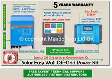 Victron Quattro Solar Easy Wall Off Grid Kit 48V DC to 8000VA 230V 250V MPPT