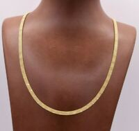 4mm Shiny 3 Row Franco Bizmark Bismark Chain Necklace Real Solid 10K Yellow Gold