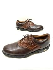 Footjoy Icon Mens Brown Leather Saddle Golf Shoes Spikes Size 11.5 M