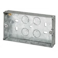 Flush Single Double Dual Metal Switch Socket Back Box 25mm 35mm 47mm Electrical