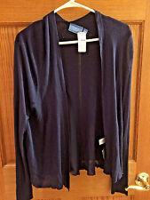 Simply Vera Wang Navy Blue Long Sleeve Cardigan Size PXL NWT Retail $58 bx19