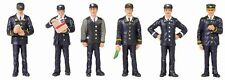 1960/70s Station Staff (x6) - Bachmann 36-405 - OO painted figures - free post