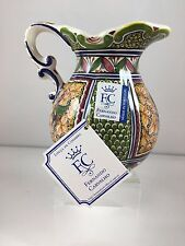 Hand Painted Pitcher Louca de Coimbra Made in Portugal XV Century Replica