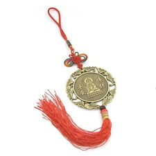 Copper Coated Tibet Buddhist Guanyin Bodhisattva Amulet Pendant Car Hanging