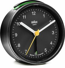 Braun Classic Travel Alarm Clock - Black - BNC012BKBK