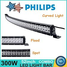 """52""""inch 300W Curved LED Light Bar Slim Combo Offroad UTE Boat Ford GMC RAM ATV"""
