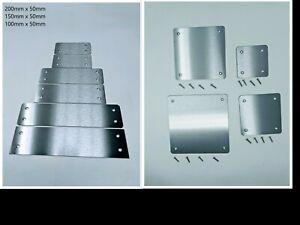 Stainless Steel 430 Grade Flat Metal Fixing Repair Joining Mending Plate Bracket