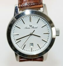 Lucien Piccard Tosa Men's Silver Stainless Steel Quartz Dress Watch 11572 New!