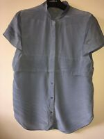 Ladies COS Blouse 100% Silk Lilac Size 8 (US 4) Buttons