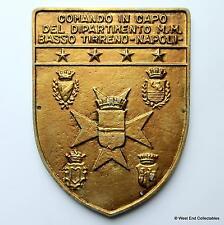Comando à Capo Tirreno-NAPOLI NAPLES-MARINE ITALIENNE tampion plaque badge Crest