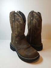 Justin Gypsy Collection Gemma L9909 Aged Bark Women's Western Boots - Size 6.5B.