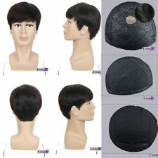 Mens 100% Human Hair Toupee Topper Replacement Top Piece human hair piece