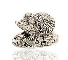 925 Sterling Silver Hedgehog British Wildlife Figure.