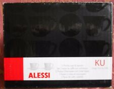 Alessi 'Ku' Mocha (espresso) Cup & soucoupe x 2