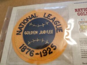 1925 National League Golden Jubilee- 125 Years Of Official Baseball Patches