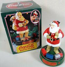 Ertl Mechanical Metal Bank Santa Toy Train Move Xmas Vtg Coca Cola Coke 1993 COA