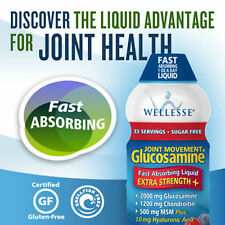 Wellesse Joint Movement Glucosamine, 33.8 Ounces Chondroitin MSM Liqiud NEW PACK