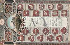 Wartburg Germany Castle Animals Antique Postcard J57885