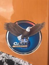 Case IH Baumaschinen Aufkleber rund Adler Case Construction 14cm