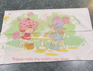 Vintage 80's Strawberry Shortcake American Greetings Double Sided Pillowcase