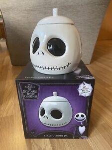 Disney Tim Burton Nightmare Before Christmas Jack Skellington Ceramic Cookie Jar